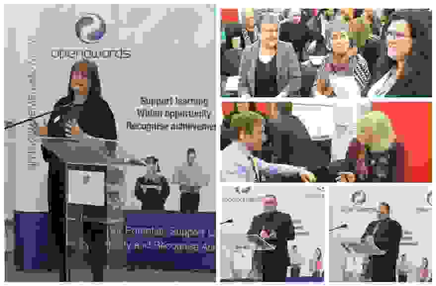 business skills event collage