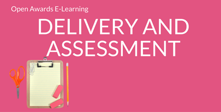 E-Learning Delivery and Assessment Image