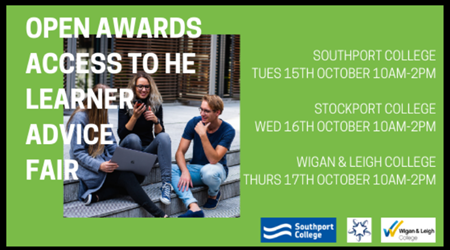 Open Awards Access to HE Learner Advice Fair 2019