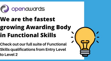 Fastest growing awarding body in Funcational Skills