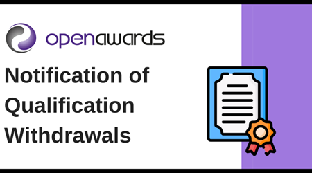 Notification of Qualification Withdrawals